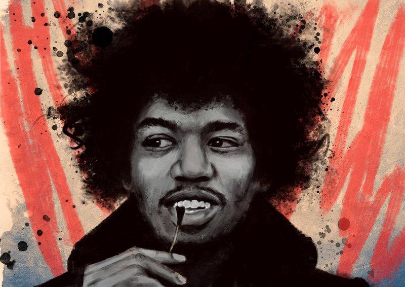 Jimi Hendrix by IgnacioR